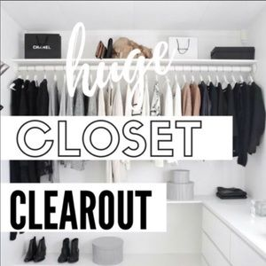 closet clearout sale - everything must go!!